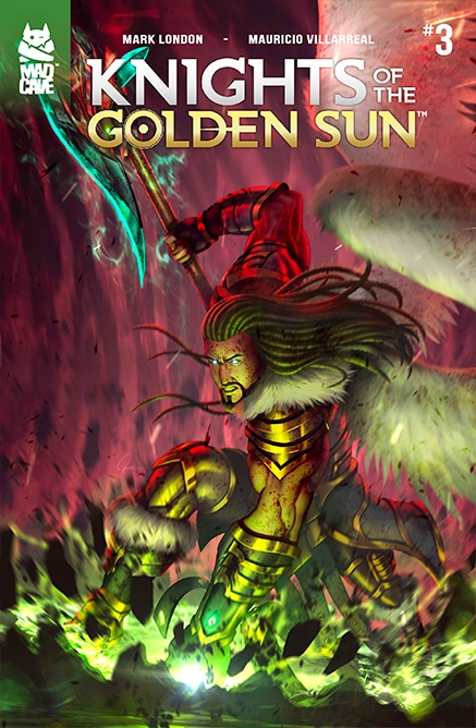 Knights of the golden sun 3 comic cover