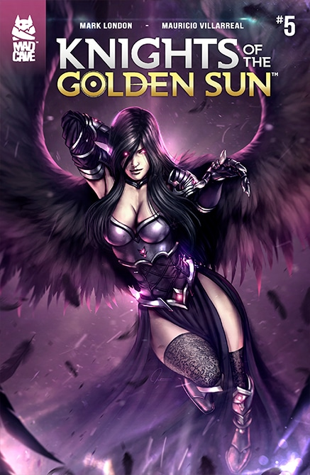 Knights of the golden sun 5 comic cover
