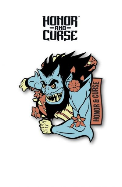 Honor and Curse Enamel Pin