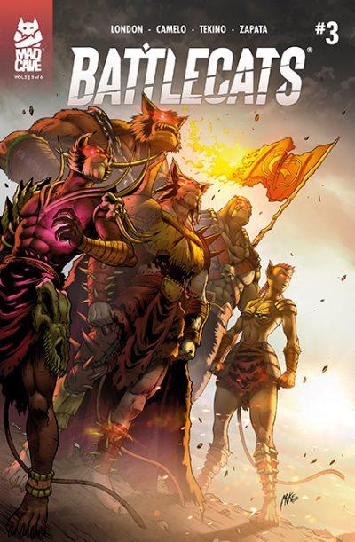 Battlecats Vol 2 #3 Cover - Mad Cave