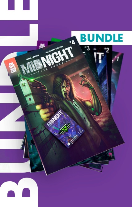 Midnight Task Force – Bundle (#1 – #4 + Enamel Pin)