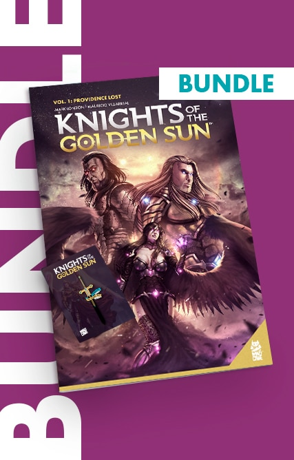 Knights of The Golden Sun – Bundle (Trade + Enamel Pin)