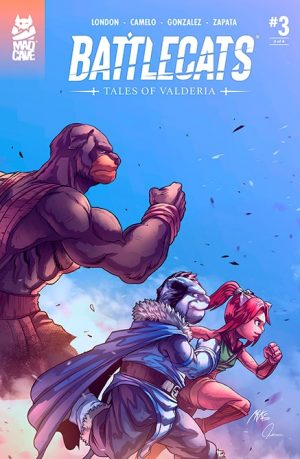 Battlecats Tales of Valderia #3 Cover - Mad Cave