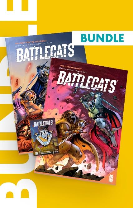 Battlecats – Bundle ( Vol.1 + Vol.2 + Enamel Pin)